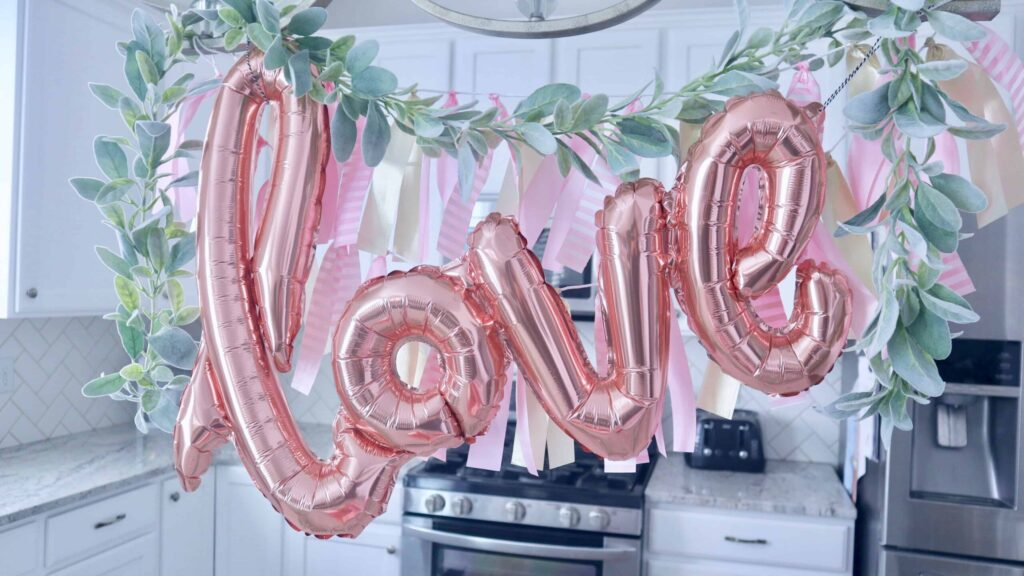 Rose Gold Pink Valentines Day Decor Ideas | Chelsey Curtis