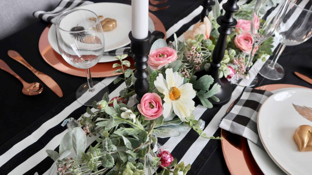 Rose Gold Pink Valentines Day Decor Ideas   Chelsey Curtis