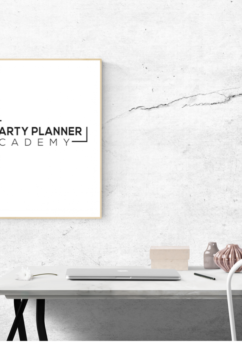 Blank desk - The Party Planner Academy